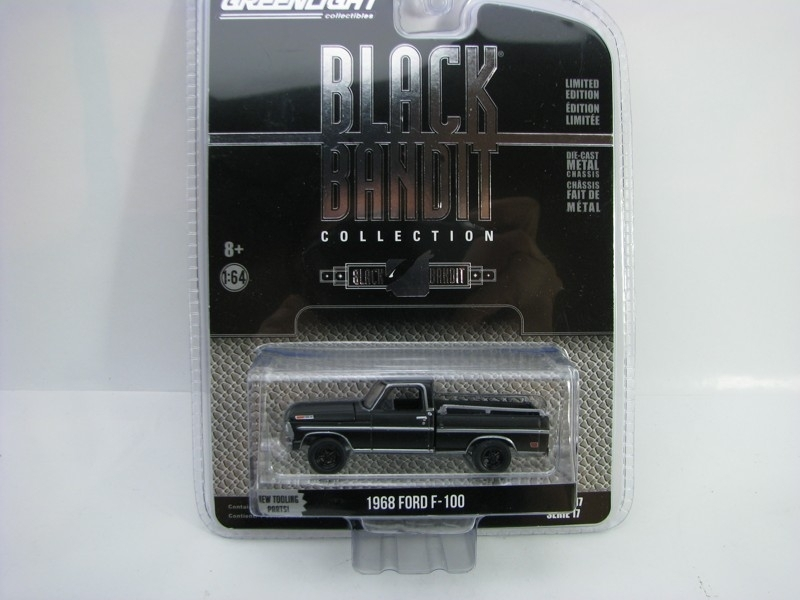 Ford F-100 1968 1:64 Greenlight Black Bandit