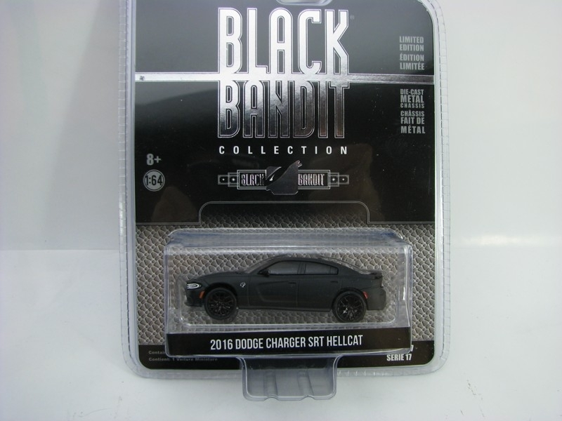 Dodge Charger SRT Hellcat 2016 1:64 Greenlight Black Bandit