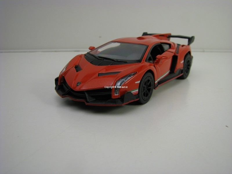 Lamborghini Veneno Orange Pull Back 1:36 Kinsmart