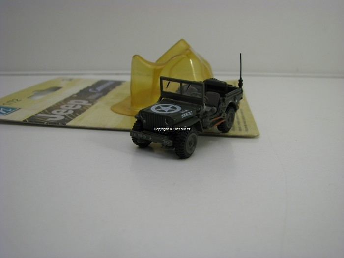 Jeep Willys 1:72 Cararama blistr