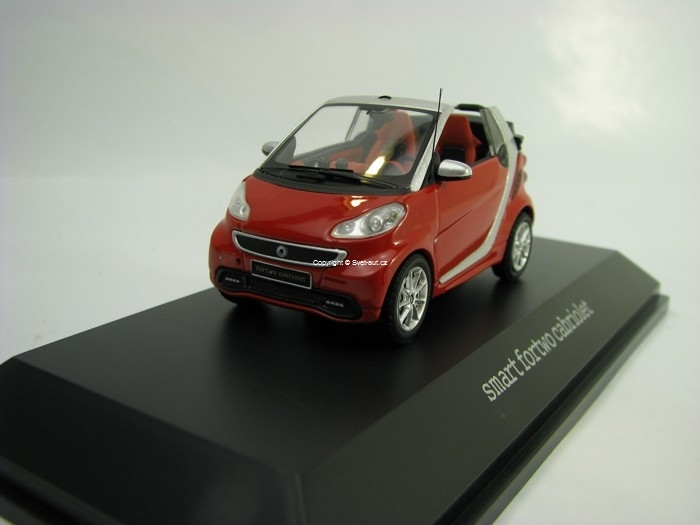 Smart Fortwo Cabrio Red 1:43 Spark