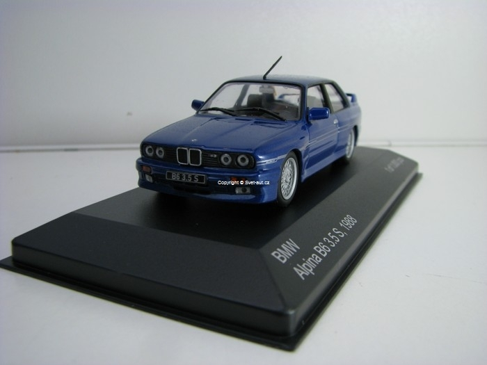BMW Alpina B6 3,5 S 1988 Blue Metallic 1:43 White Box