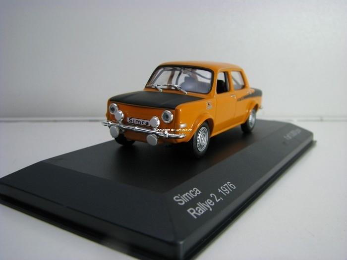 Simca Rallye 2 Orange 1976 1:43 White Box