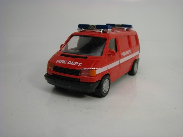 Volkswagen T4 Fire Dept Road Monster Pre-Cararama