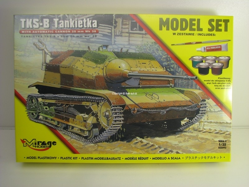 Tankietka TKS-B 1:35 Model set Mirage Hobby 835093