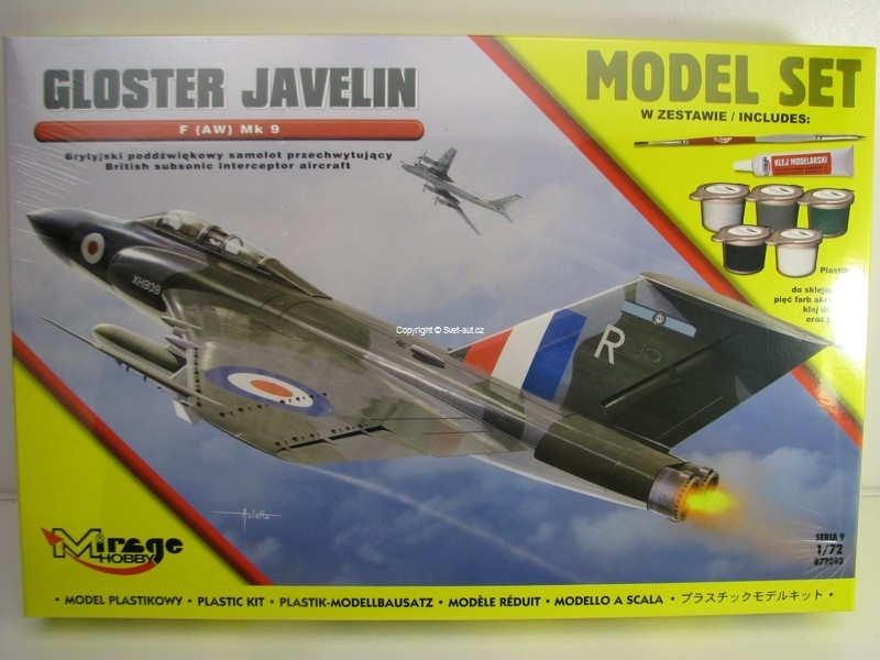 Gloster Javelin FMk9 Model set Mirage Hobby 872093