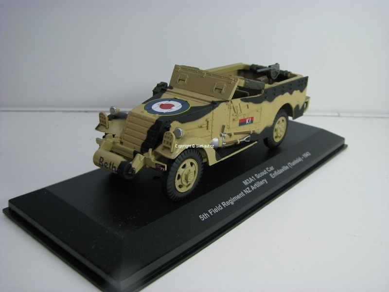 M3A1 Scout car Enfidaville Tunisia 1943 1:43 Atlas edition