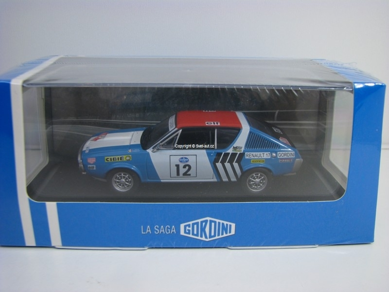 Renault 17 Gordini No.12 Rallye Press on Regardless 1974 Atlas Edition