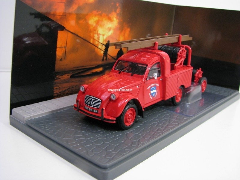Citroen 2CV AZU-B Pick Up Pompiers 1:43 Atlas Edition
