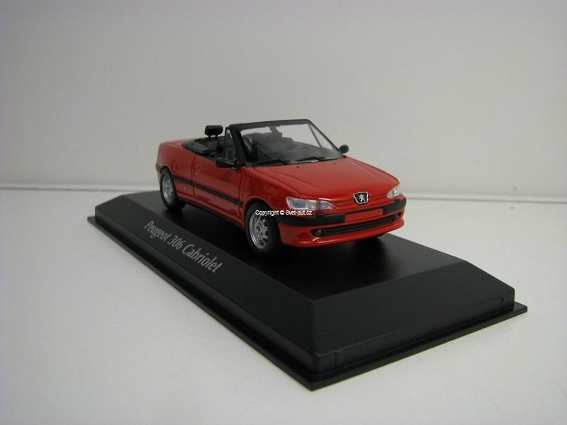 Peugeot 306 Cabriolet 1998 Red 1:43 Maxichamps