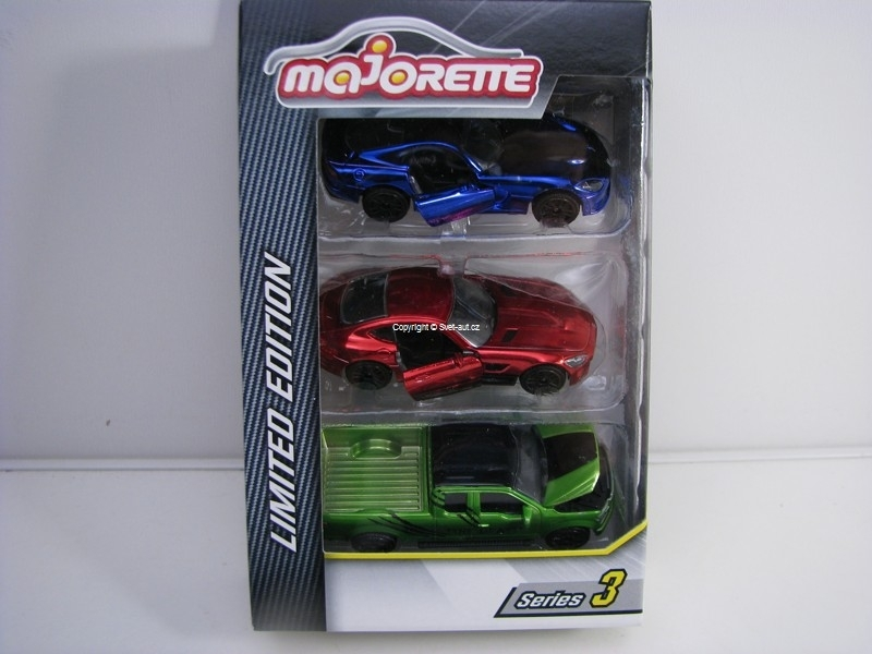 Dodge, Mercedes, Ford Limited edition set 3 modely Majorette