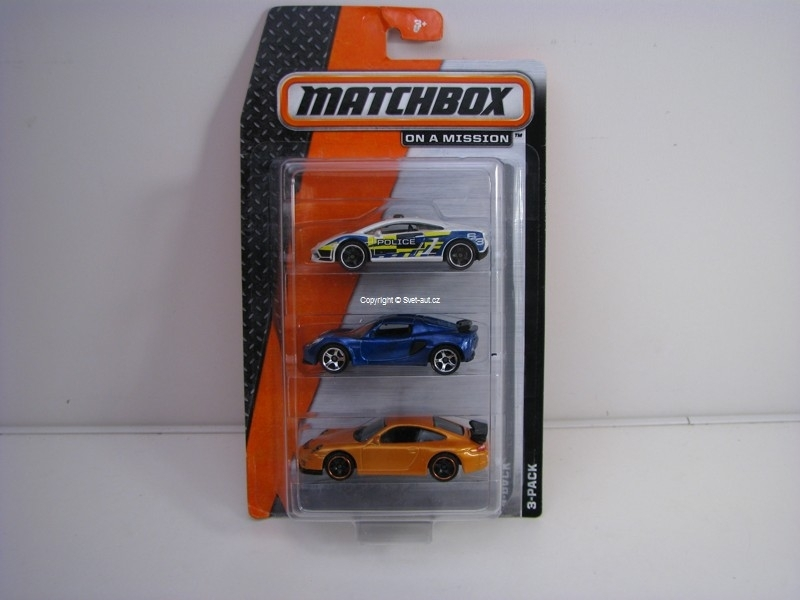 Autíčko Angličák Matchbox On a Mission 3 pack
