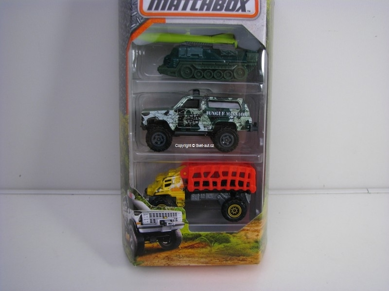 Autíčko Angličák Matchbox Jungle Mission 3 pack
