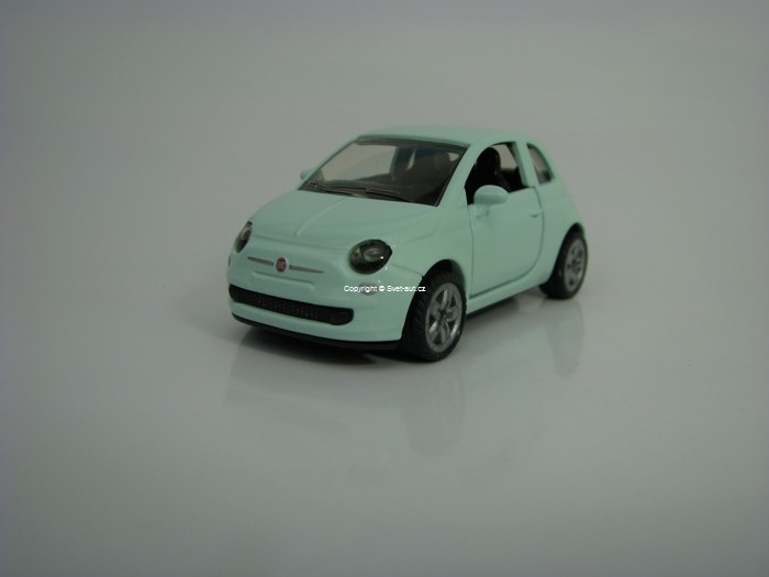 Fiat 500 Light Blue model Siku 1453