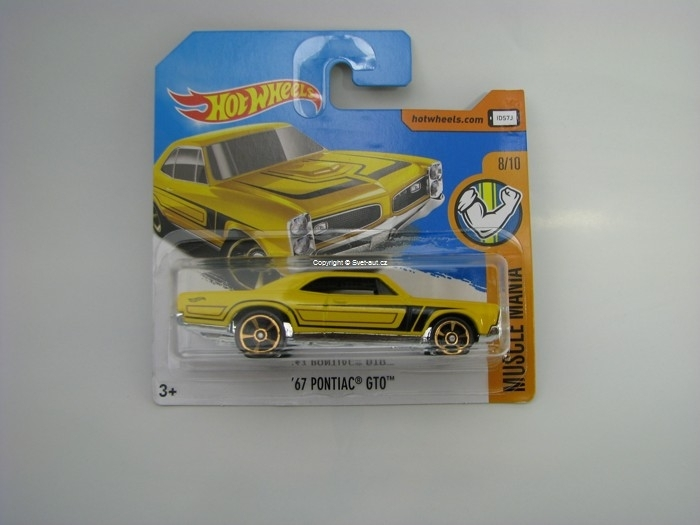 67 Pontiac GTO Yellow Hot Wheels Muscle Mania 8/10