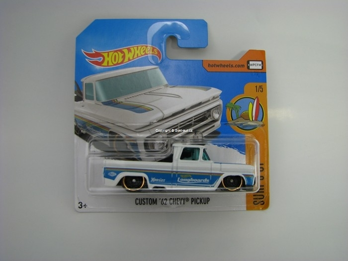 Custom 62 Chevy Pickup Hot Wheels Surfs Up 1/10