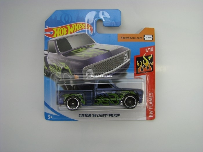 Custom 69 Chevy Pickup Wheels HW Flames 1/10