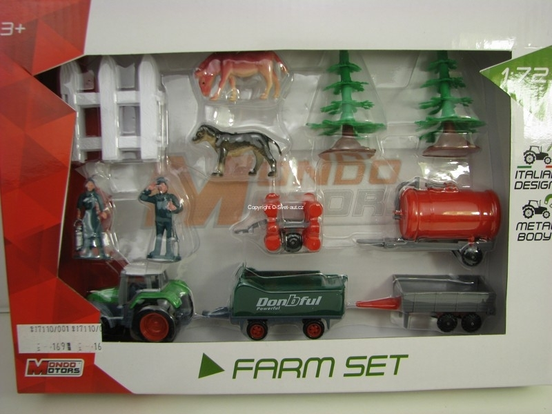 Farma set s traktorem 1:72 Mondo Motors 58017