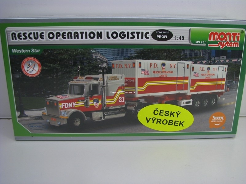 Kenworth Western Star FDNY Truck Operation Logistic 1:48 Vista Monti system