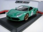 Ferrari 488 GTB No.25 Metallic Green 70 th Aniversary 1:18 Bburago