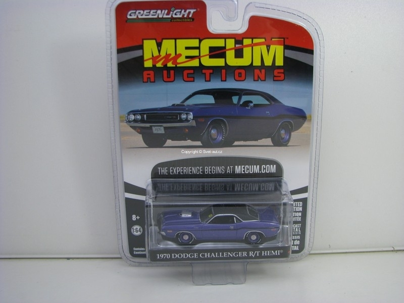Dodge Challenger R/T Hemi 1970 Purple 1:64 Greenlight Mecum Auctions