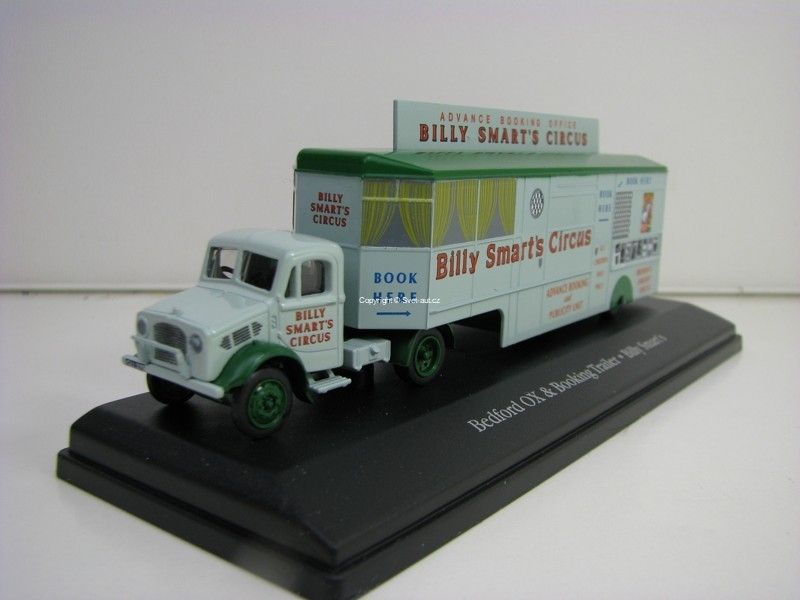 Bedford OX Booking Trailer Billy Smarts Cirkus 1:76 The Greatest Show On Earth