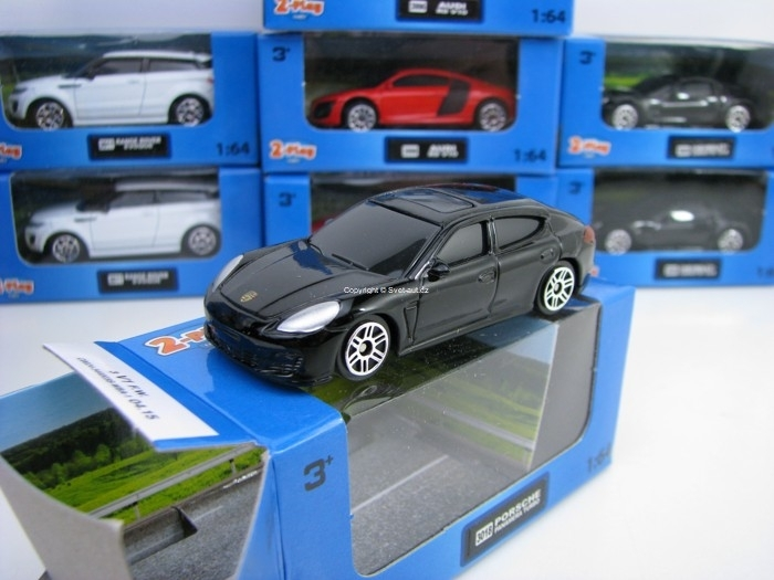 Porsche Panamera Turbo Black 1:64 2-Play traffic