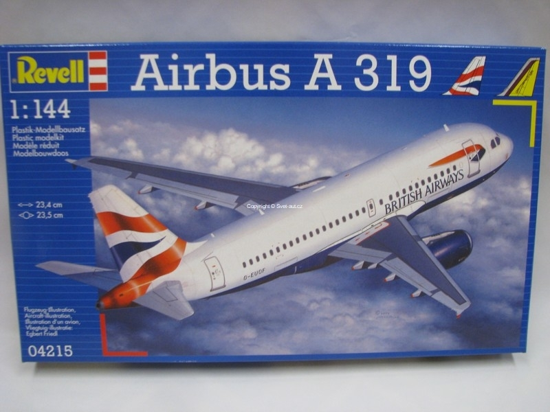 Airbus A 319 British Airways stavebnice 1:144 Revell 04215