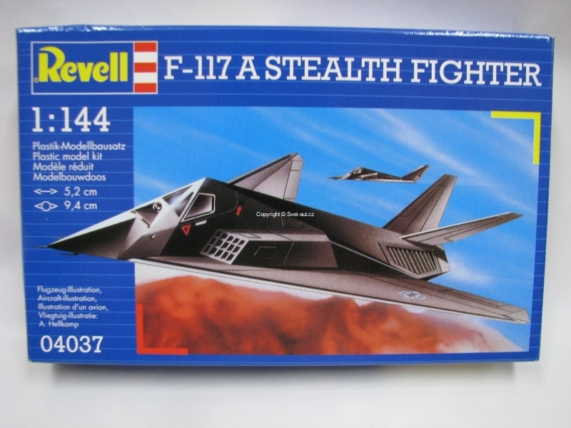 F-117 Stealth Fighter stavebnice 1:144 Revell 04037