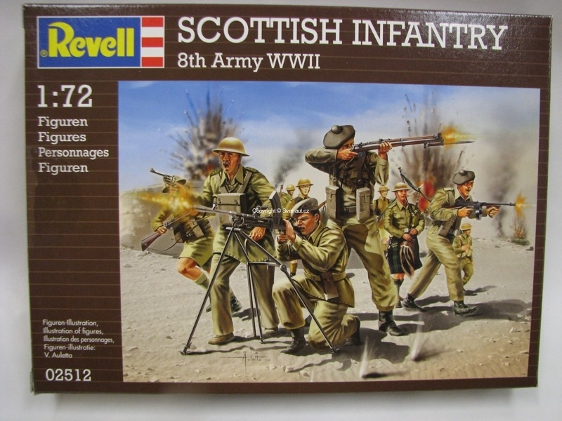 Scottish Infantry 8th Army WWII figurky 1:72 Revell 02512