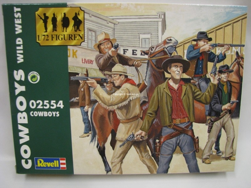 Cowboys Wild West figurky 1:72 Revell 02554