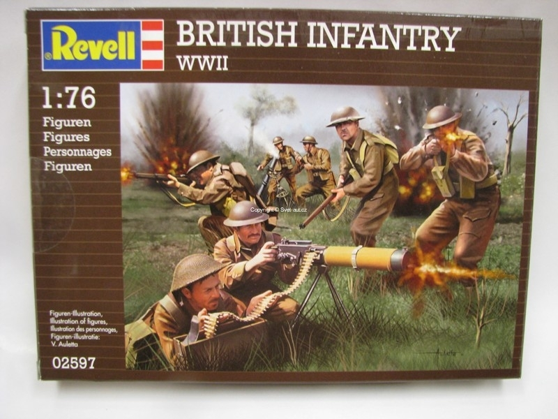 British Infantry WWII figurky 1:76 Revell 02597