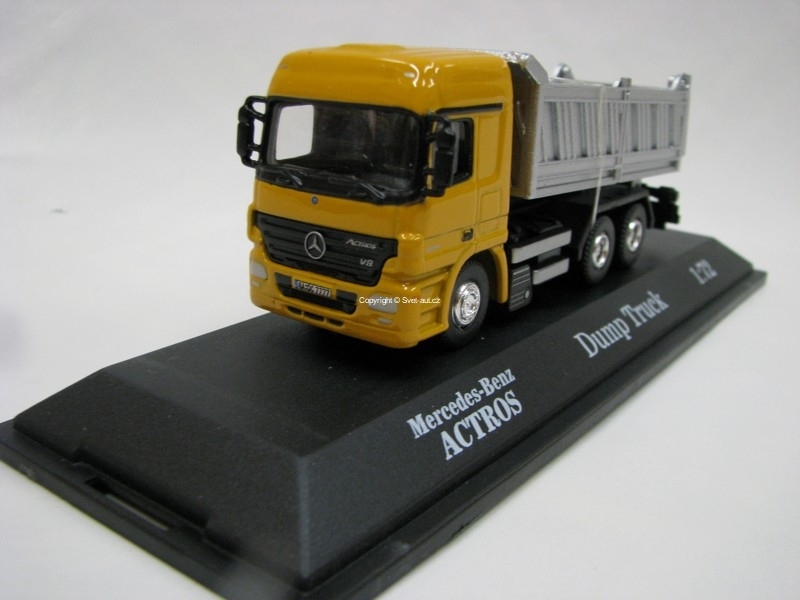 Mercedes-Benz Actros Sklápěč Dump Truck 1:72 Joy City