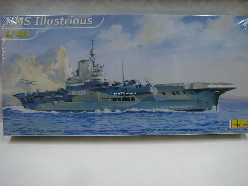HMS Illustrious British Aircraft Carrier stavebnice 1:400 Heller 81089
