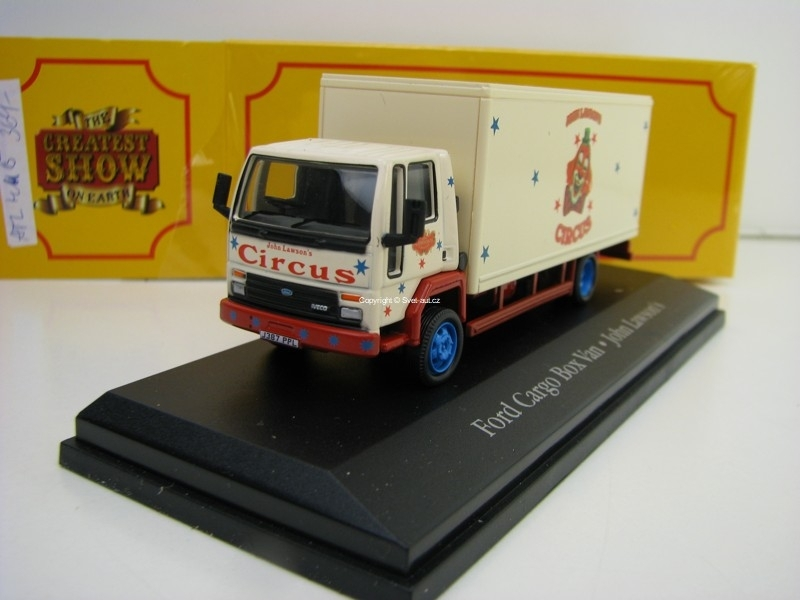 Ford Cargo Box Van Cirkus John Lawsons 1:76 The Greatest Show On Earth