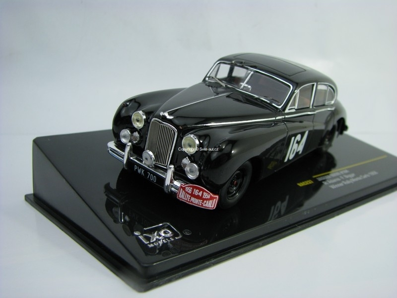 Jaguar MKVII No.164 R. Adams Winner Rallye MC 1956 1:43 Ixo RAC237