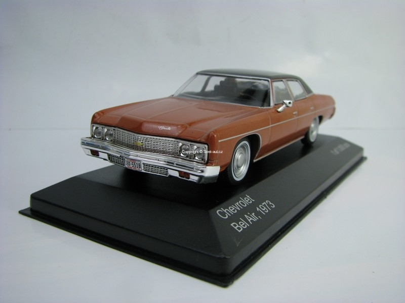 Chevrolet Bel Air 1973 Brown metallic 1:43 White Box WB187