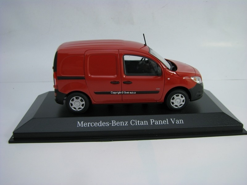 Mercedes-Benz Citan Kastenwagen 2012 Red 1:43 Minichamps