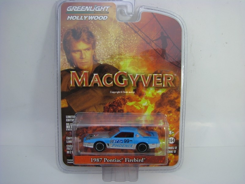 Pontiac Firebird 1987 MacGyver 1:64 Hollywood Greenlight série 17