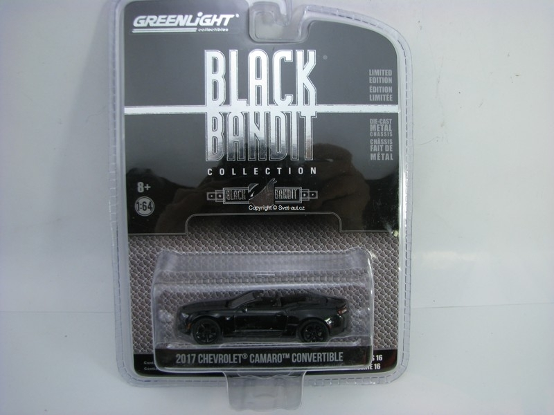 Chevrolet Camaro Convertible 2017 Black Bandit 1:64 Greenlight serie 16