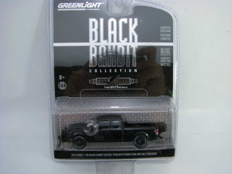 Ford F-150 2015 Bandit Rescue team Black Bandit 1:64 Greenlight serie 16