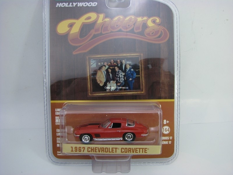 Chevrolet Corvette 1967 Cheers 1:64 Hollywood Greenlight serie 17