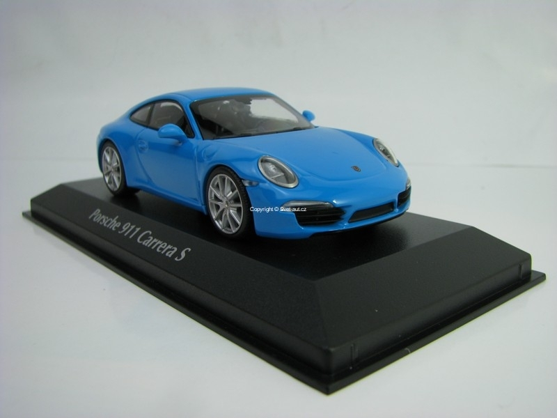 Porsche 911 Carrera S 2012 Blue 1:43 Maxichamps
