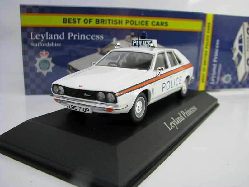 Leyland Princess Staffordshire 1:43 Corgi Best Of Britisch Police Cars Atlas Edition