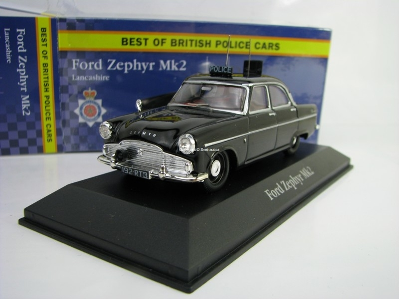 Ford Zephyr Mk2 Lankashire 1:43 Corgi Best Of Britisch Police Cars Atlas Edition