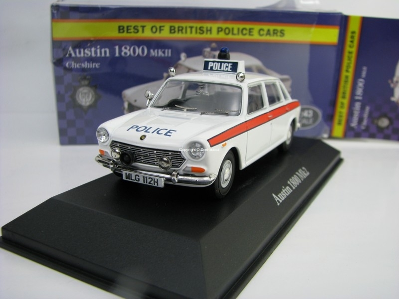 Austin 1800 MkII Cheshire 1:43 Corgi Best Of Britisch Police Cars Atlas Edition