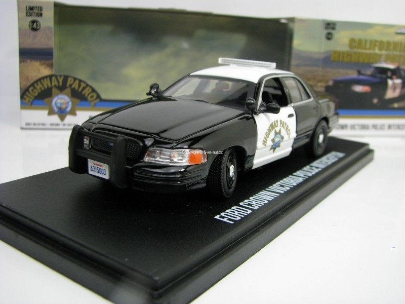 Ford Crown Victoria Police Interceptor Highway Patrol 1:43 Greenlight 86086