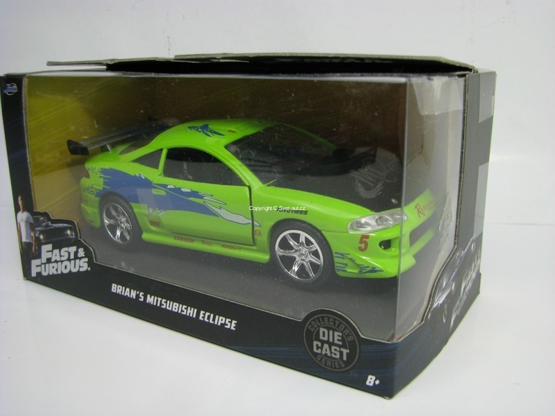 Brian's Mitsubishi Eclipse Fast and Furious 6 1:32 Jada Toys
