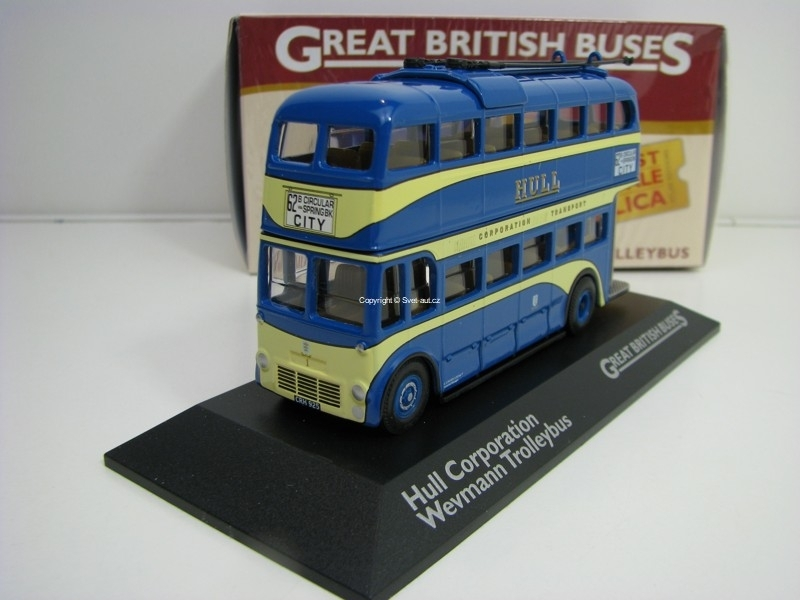 Hull Corporation Weymann Trolley bus 1:76 Great Britisch Buses Atlas Edition