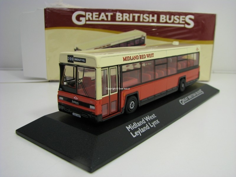 Autobus Midland Red West Leyland Lynx 1:76 Great Britisch Buses Atlas Edition